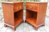 Pair Mahogany Bedside Chests by Bradley